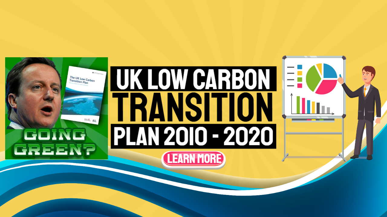 """Image text: """"UK Government low carbon transition plan""""."""