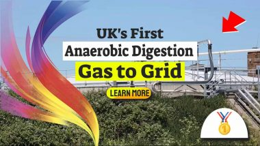 """Image text: """"Anaerobic Digestion Gas to Grid""""."""