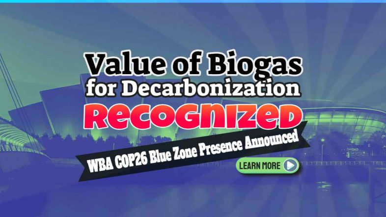 """Image text: """"Value of Biogas for Decarbonization Recognised""""."""